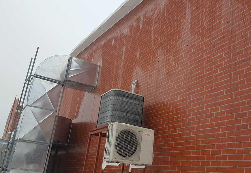 Система вентиляции и кондиционирования воздуха склада